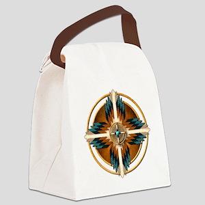 Native American Mandala 02 Canvas Lunch Bag