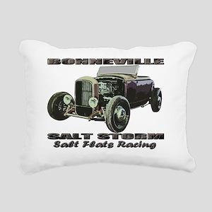 salt flats racing bonnev Rectangular Canvas Pillow