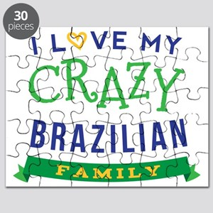 I Love My Crazy Brazilian Family Puzzle