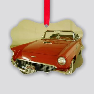 Red 1957 Ford Thunderbird Picture Ornament