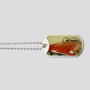 Red 1957 Ford Thunderbird Dog Tags