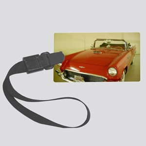Red 1957 Ford Thunderbird Large Luggage Tag