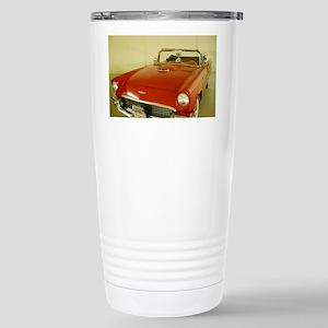 Red 1957 Ford Thunderbi Stainless Steel Travel Mug