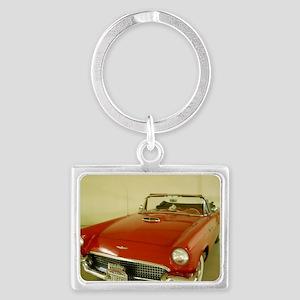 Red 1957 Ford Thunderbird Landscape Keychain