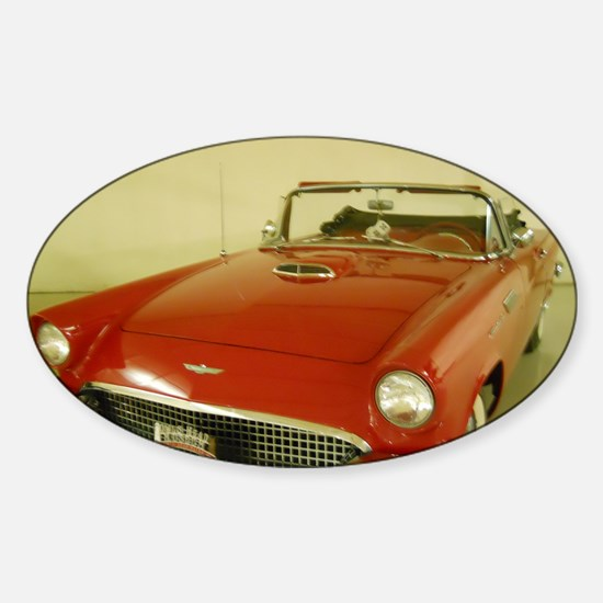 Red 1957 Ford Thunderbird Sticker (Oval)