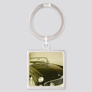 Black 1955 Ford Thunderbird Square Keychain