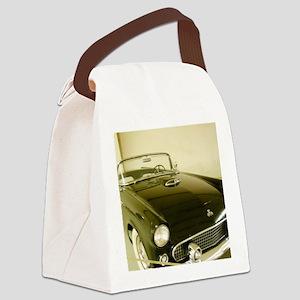 Black 1955 Ford Thunderbird Canvas Lunch Bag