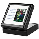 Serenity Prayer with Figure P Keepsake Box