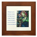 Serenity Prayer and figure re Framed Tile