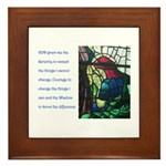 Serenity Prayer with Figure P Framed Tile