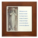Serenity prayer and angels Framed Tile