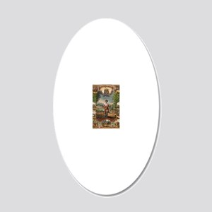 agriculture 20x12 Oval Wall Decal