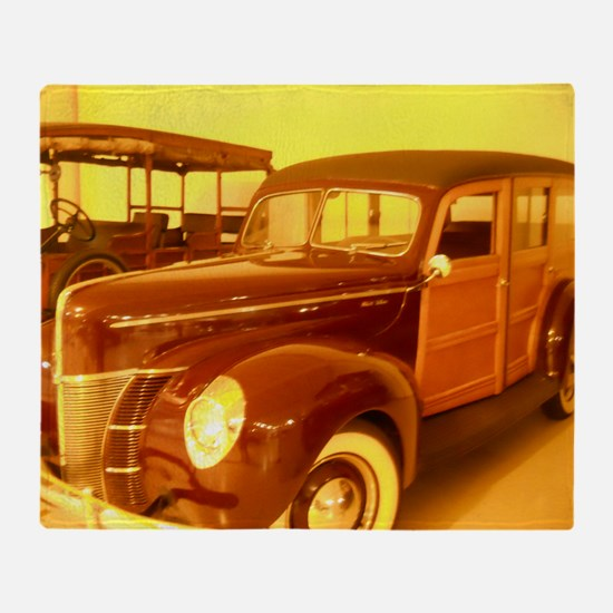 1940 Ford Woody Throw Blanket