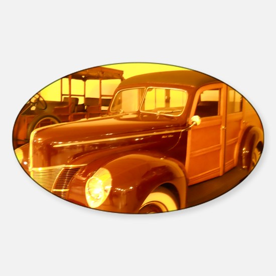 1940 Ford Woody Sticker (Oval)