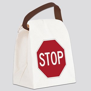 stop sign funny bro truck stop te Canvas Lunch Bag