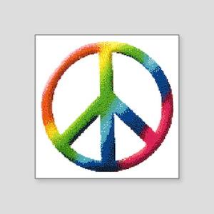 "RainbowPeace1 Square Sticker 3"" x 3"""