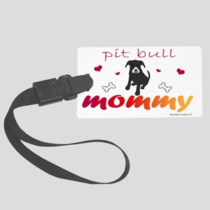 pit bull Large Luggage Tag