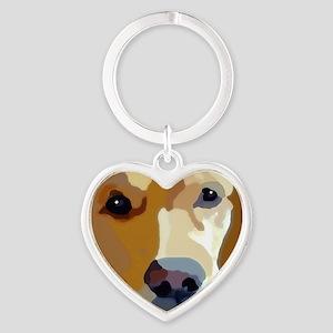 golden retriever Heart Keychain