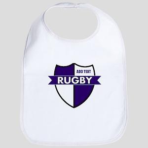 Rugby Shield White Purple Bib