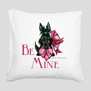 Scottie Valentines Day 2012 Square Canvas Pillow