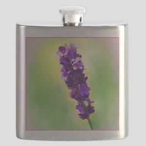 Lavendar Flower Flask