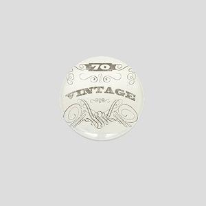 Vintage 70th Birthday Mini Button