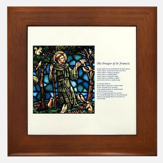 St Francis Peace Prayer Framed Tile