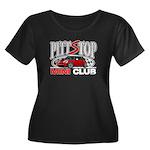 PittStop MINI Women's Plus Size Scoop Neck Dark T-