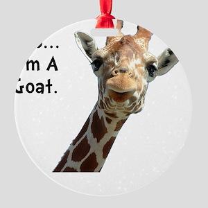 Moo Giraffe Goat Round Ornament