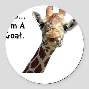 Moo Giraffe Goat Round Car Magnet