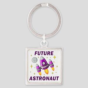 Future Astronaut (Girl) Square Keychain