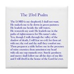 23rd Psalm Tile Coaster
