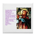 The 23rd Psalm Tile Coaster