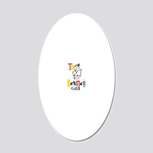 Jersey Girl Collection 20x12 Oval Wall Decal