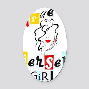 Jersey Girl Collection Oval Car Magnet