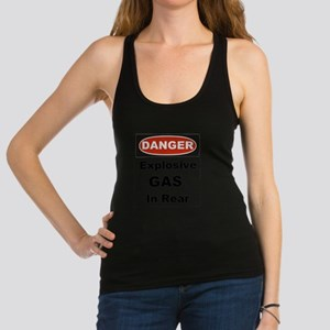 Danger Explosive Gas In Rear Racerback Tank Top