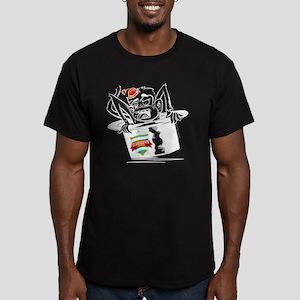 mens apparel monkey rt Men's Fitted T-Shirt (dark)