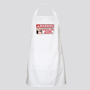 Flying Objects, Red BBQ Apron