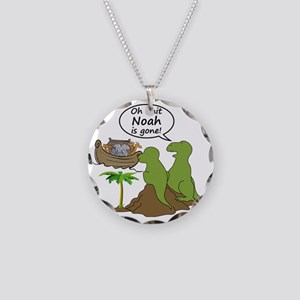 Oh Shit, Noah is Gone Necklace Circle Charm