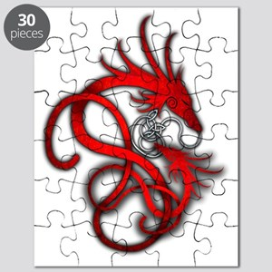 Norse Dragon - Red Puzzle