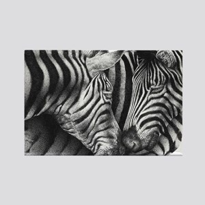 Zebras Rectangle Cocktail Plate Rectangle Magnet