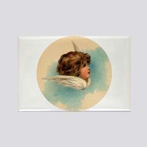 Vintage Angel Head And Wings Magnets