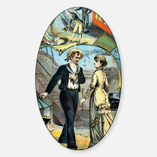 gilbert and sullivan Sticker (Oval)