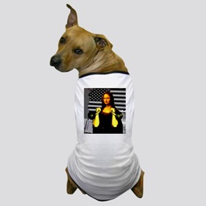 Mona Lisa Hits the Bells Dog T-Shirt