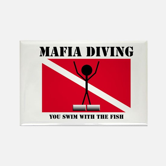 italy Mafia Mob Diving Rectangle Magnet