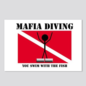 italy Mafia Mob Diving Postcards (Package of 8)