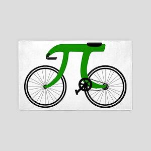 Pi Bike green 3'x5' Area Rug