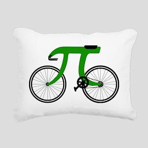 Pi Bike green Rectangular Canvas Pillow