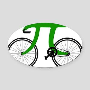 Pi Bike green Oval Car Magnet