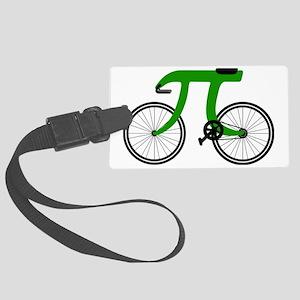 Pi Bike green Large Luggage Tag